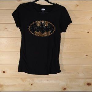 Tops - Women's Embellished Batman Shirt - Size L